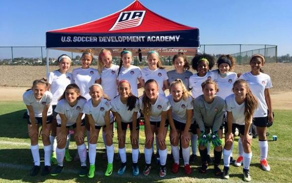 Spirit Academy teams earn strong results at U.S. Soccer Girls' DA Summer Showcase