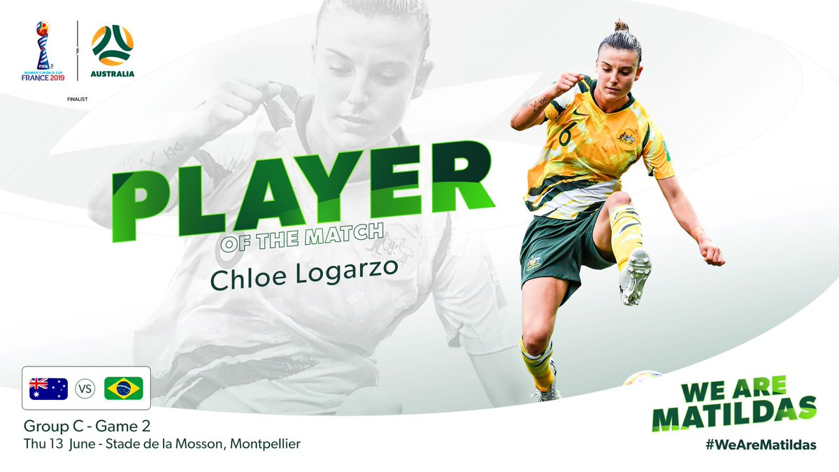 a1d8c43fcc7 Chloe Logarzo named World Cup Player of the Match for #AUSBRA ...